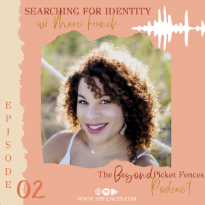 Mixed race woman with lighter skin and curly dark hair. Episode 2, Searching for Identity with Marci French